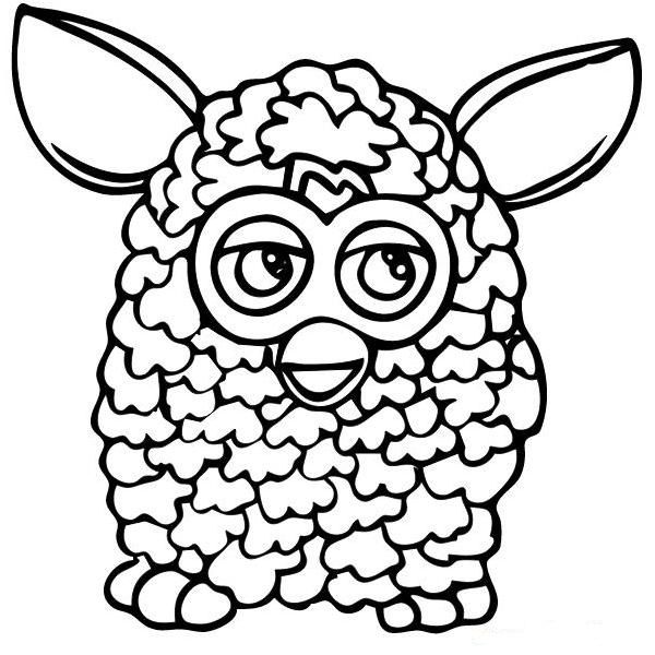 furby coloring page coloring pages