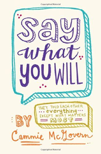 Amazon.com: Say What You Will (8601406704602): Cammie McGovern: Books