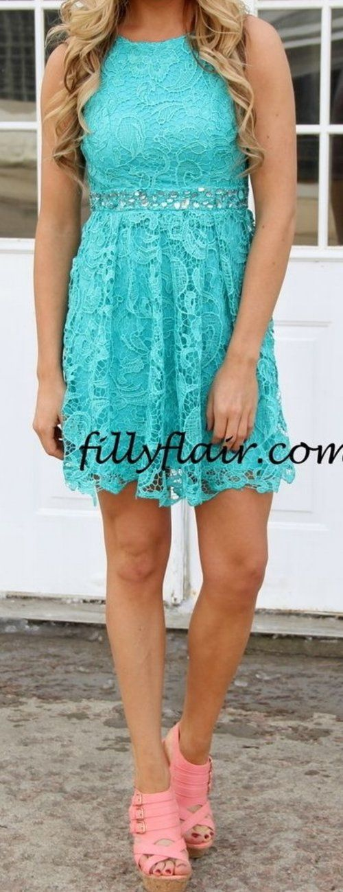 17 Best ideas about Turquoise Lace Dresses on Pinterest ...