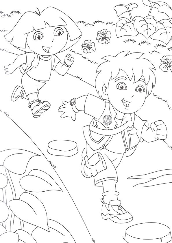 dora carnival coloring pages - photo#8