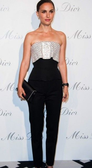 Natalie Portman's classic, formal pant ensemble is unique! We love it! #ModestIsHottest