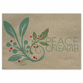 30 best envelopes greeting cards images on pinterest greeting peace on earth holly holiday cards business christmas cards deluxe reheart Gallery