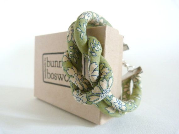 Tana Lawn Reef Knot Bracelet Capel by BunnyBosworths on Etsy, $19.40 #libertyprint #tanalawn #rope #knots #etsy #handmade #autumn #statement