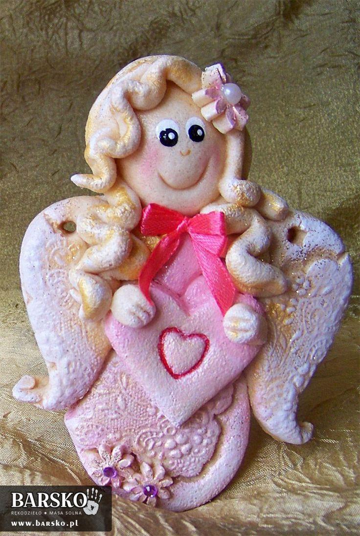 Walentynkowy Aniołek z masy solnej