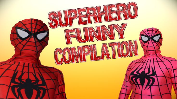 Spiderman Superheroes in Real Life Funny compilation movies Pink spidergirl