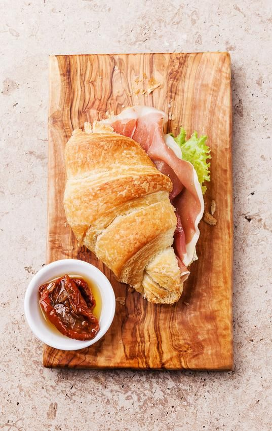 Ham and cheese croissant.
