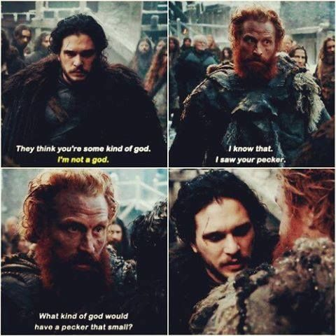 """They think you're some kind of god"" - Tormund and Jon #GameOfThrones"