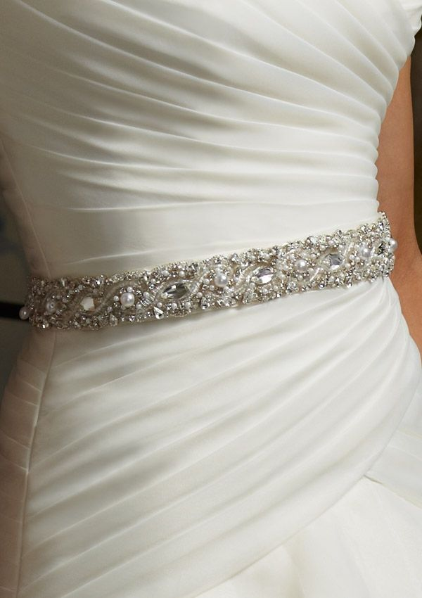 wedding gown belts | Beaded Wedding Dress Tie Belt 11005 Mori Lee