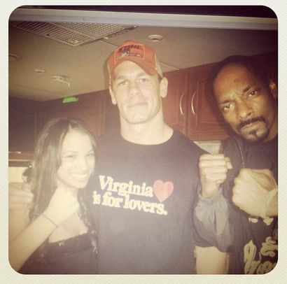 Before she was the BO$$ of the WWE, she was a fan who loved the business. Sasha Banks, John Cena, and her cousin Snoop Dogg