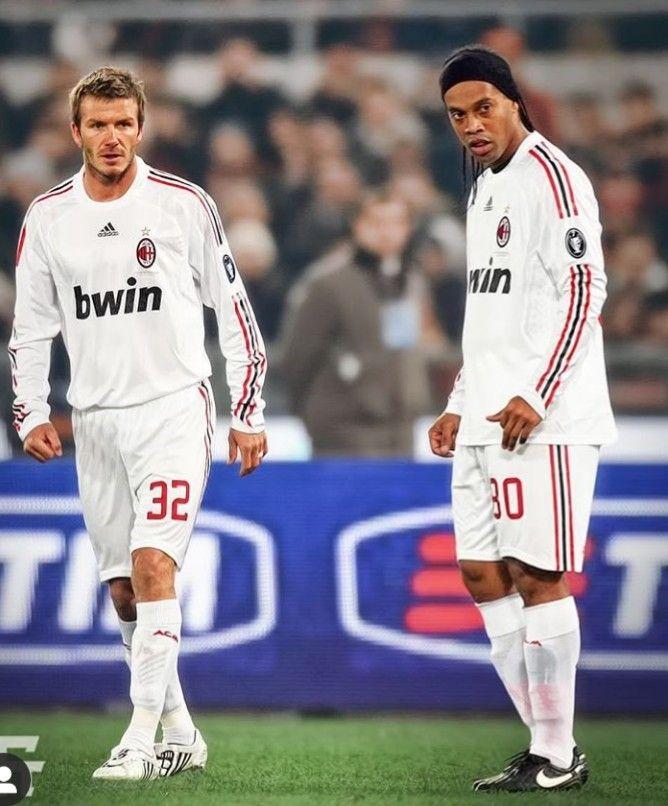 Ronaldinho David Beckham Ac Milan Con Imagenes Ronaldinho