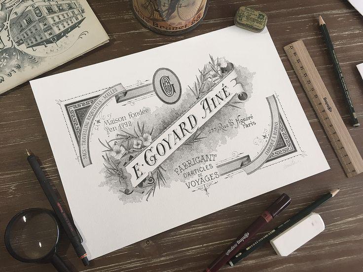 betype:    E. Goyard Ainé - Hand lettering & Illustration by Xavier Casalta
