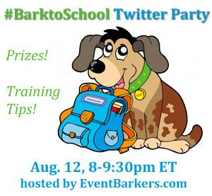 We want to go! Bark Bark! RSVP for the #BarktoSchool Twitter party to win prizes! http://www.dogtipper.com/giveaways-contests/2012/07/announcing-the-barktoschool-twitter-party.html