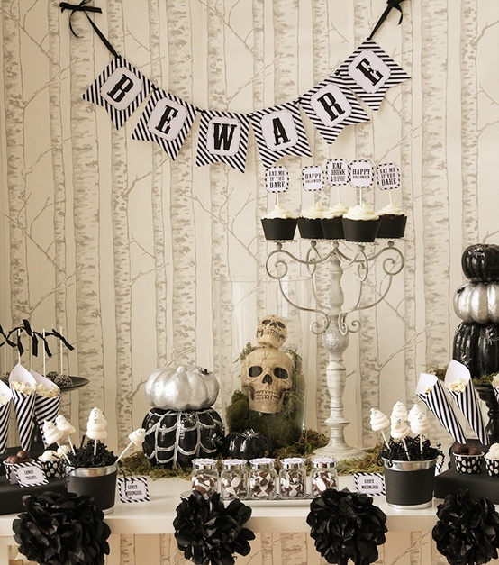 Halloween party idea halloween party pinterest Classy halloween decorations
