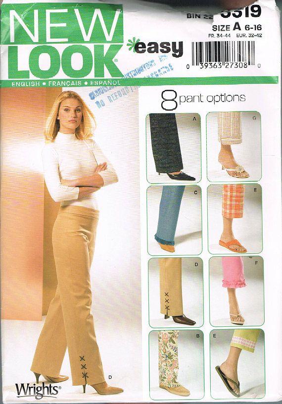Size 6 16 Misses Easy Pants Sewing Patttern Wide Leg Pants
