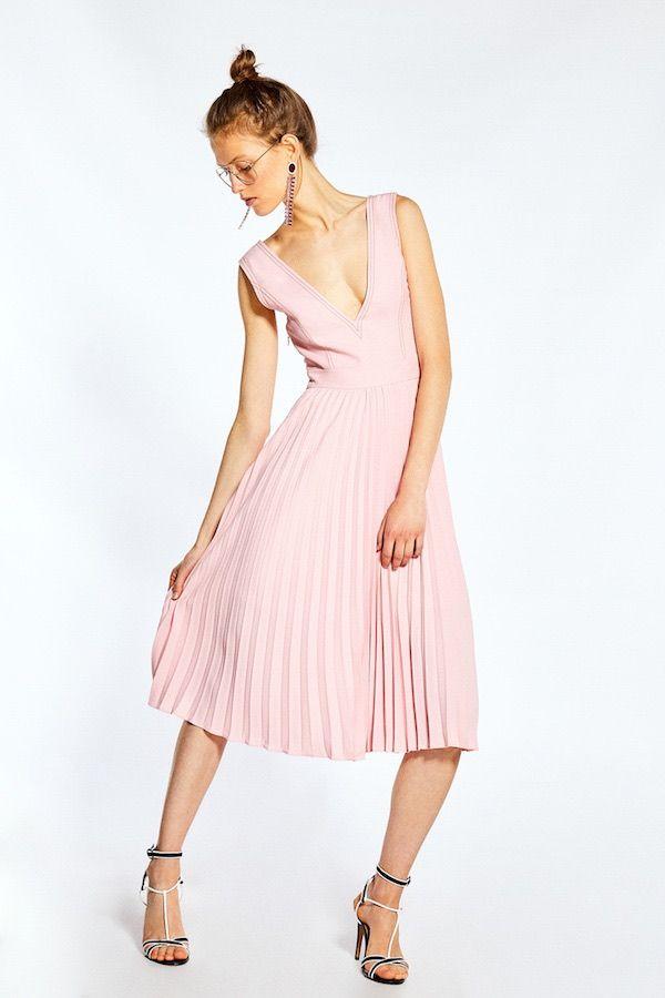59f1a257f Catálogo Sfera Primavera Verano 2018 vestido rosa