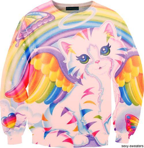 Lisa Frank sweater. Yeeeaaah.