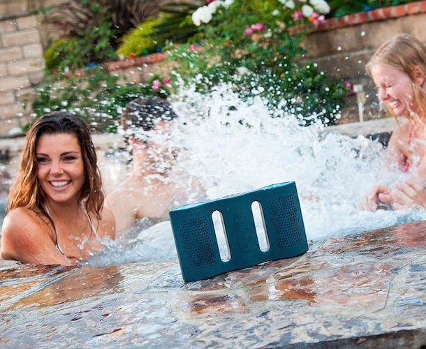 Take your music to the beach or poolside. This Floatable Waterproof Bluetooth Speaker by NYNE will give you 10 hours of wireless music even in the water.