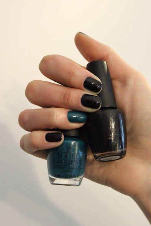 OPI Black&DarkGreen