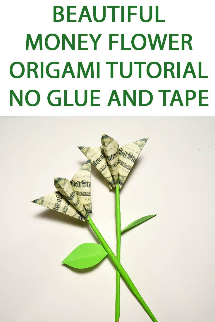 52 best money flowers origami images on pinterest gift for valentines day money flower origami tutorial diy no glue and tape do you think what to give for the valentines day present this origami flower mightylinksfo