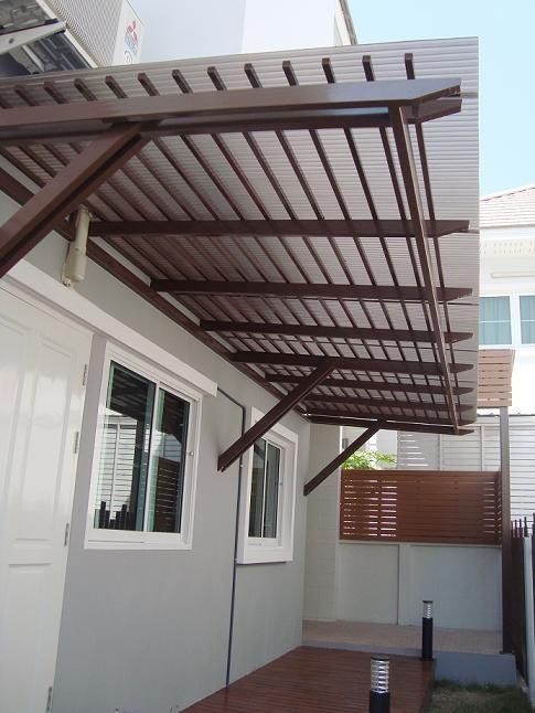 Polycarbonate Cover Sunshade Amp Awnings House Awnings