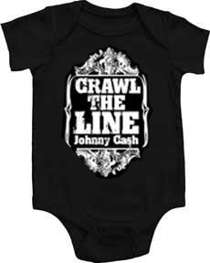 Baby Gifts and Goodies - Johnny Cash Crawl The Line Onesie (http://www.babygiftsandgoodies.com/johnny-cash-crawl-the-line-onesie/)