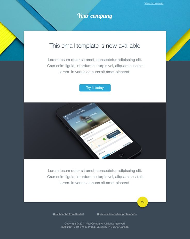 35 best email blasts images on pinterest email for Email brochure template
