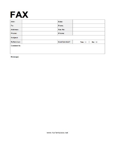 This Fax Template Is Suitable For The Most Formal Purposes, And Even  Includes An Area  Fax Template Free