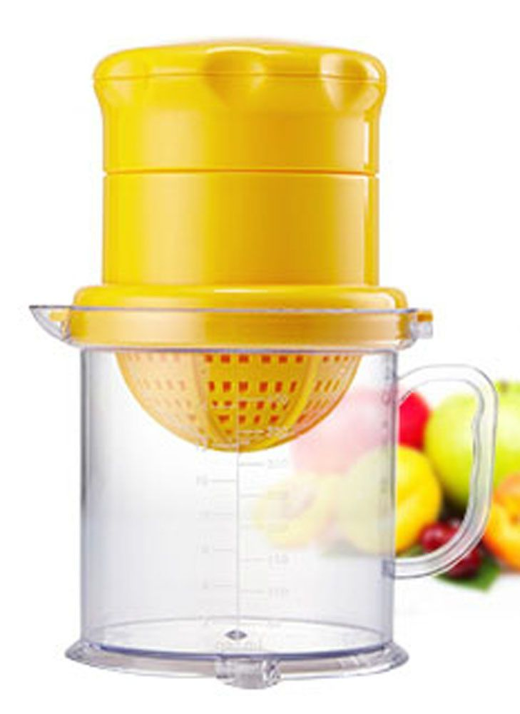 Plastic Manual Fruit Juicer Lemon Squeezer Baby Food Citrus Juicer YELLOW