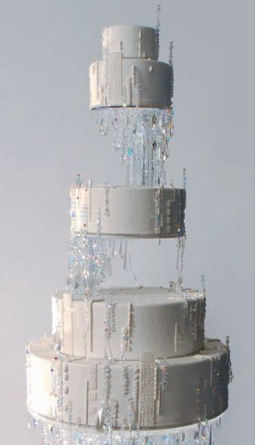 Crystal illusion cake by Ron Ben-Israel