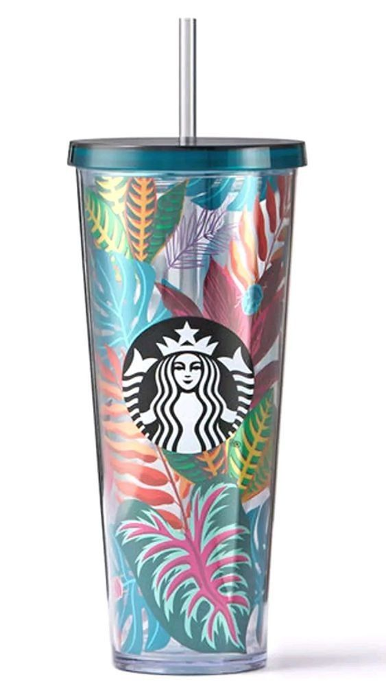 72032990fbd Starbucks tropical leaves cup in 2019   Starbucks   Starbucks ...