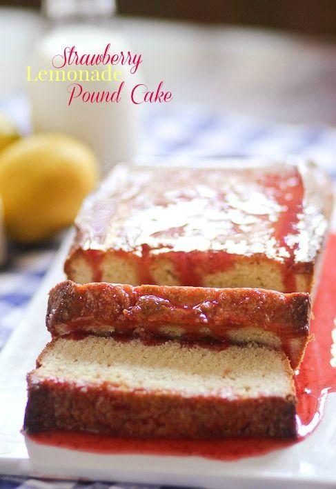 Strawberry Lemonade Pound Cake