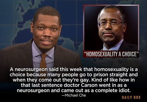 Ben Carson, homosexuality, religious right, nut jobs, prison, false notions, spreading lies, ignorant, Republican party, more of the same