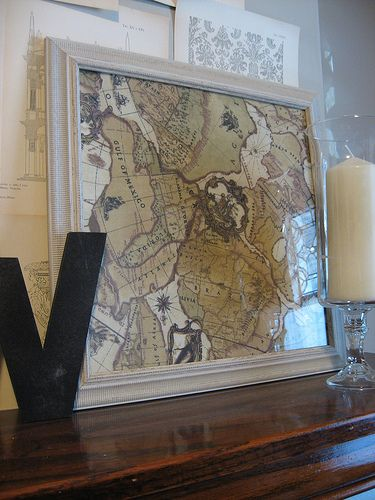 Map Wall Decor Pottery Barn Knock Off