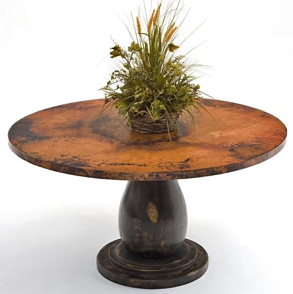 copper dining table wood pedestal base traditional dining tables by woodland creek furniture - Copper Kitchen Table