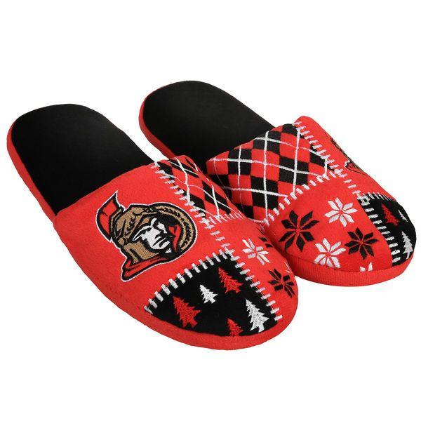 Men's Ottawa Senators Ugly Sweater Slippers. Seriously...