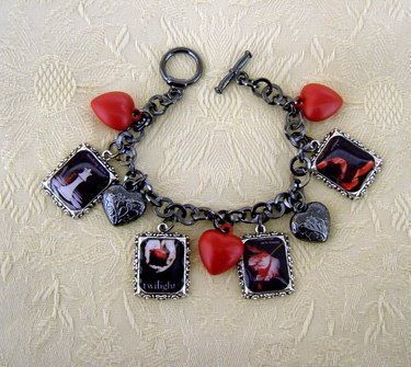 Twilight Saga Book Covers Charm Bracelet