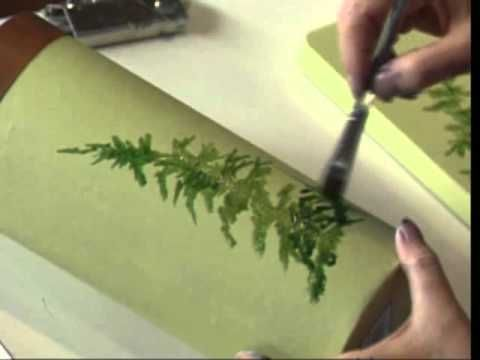 Woodlands Ferns using Acrylic Colors by Susan Scheewe video by ArtistSupplySource.com - YouTube