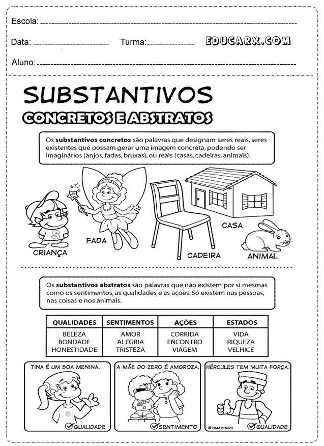 Substantivos concretos e abstratos