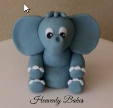 Elephant topper for any children's cake. heavenlybakesaltona@gmail.com