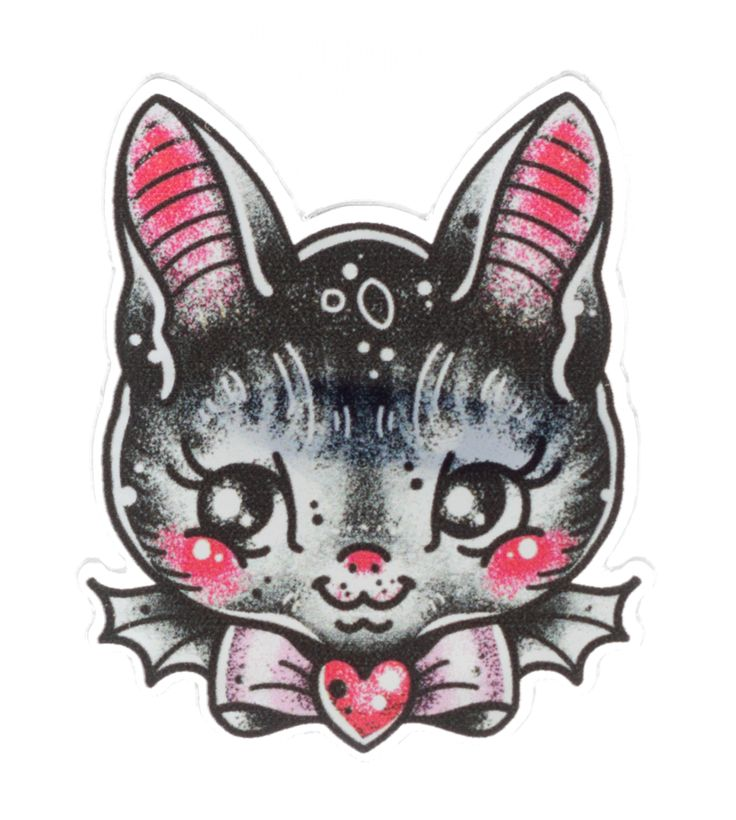 CREEP HEART BATTY BAT MINI PIN  - Sourpuss Clothing