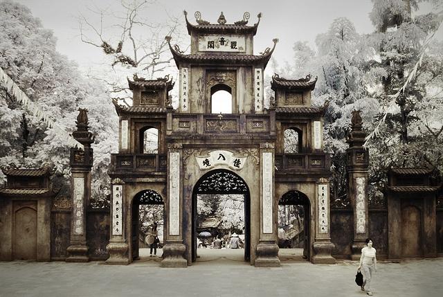 Perfume Pagoda, outside Hanoi - pagodas and Buddhist shrines built into cliffs.  Breath taking