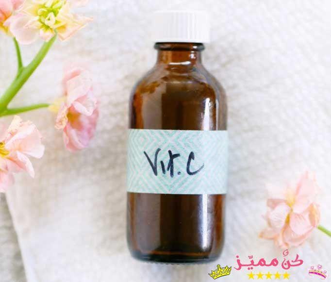 خلطة سيروم فيتامين سي وفوائدها للبشرة و مكافحة الشيخوخة و إخفاء التجاعيد Vitamin C Serum And Its Benefits For Skin An Wine Bottle Rose Wine Bottle Bottle