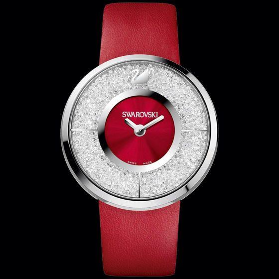 How gorgois is this watch?!  Swarovski watches: Swarovski Crystalline Red