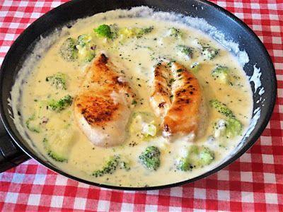 Maria kocht: Hähnchenbrust mit Brokkoli in Parmesansoße / Brokk...
