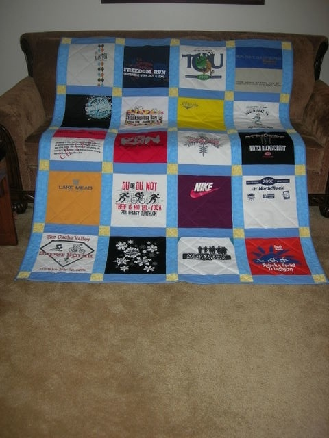 t shirt quilt tutorial - get a t-shirt for every place we go on vacation & make a quilt.