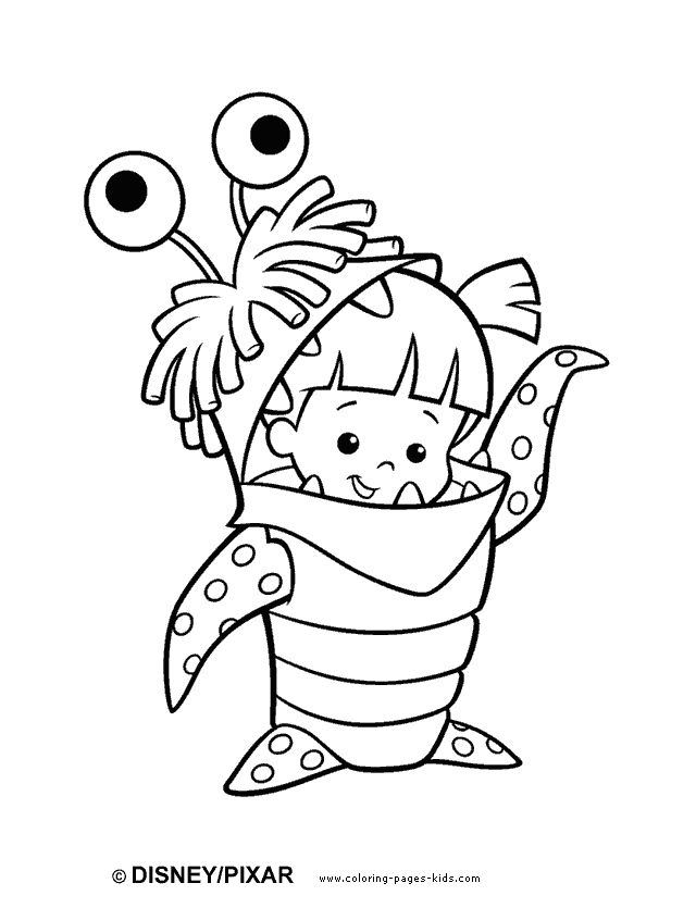 monsters inc color page disney coloring pages color plate coloring sheet printable - Cartoon Coloring Pages Printables