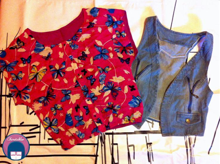 Polera mariposas. 5MIL // Chaqueta jeans. 6MIL