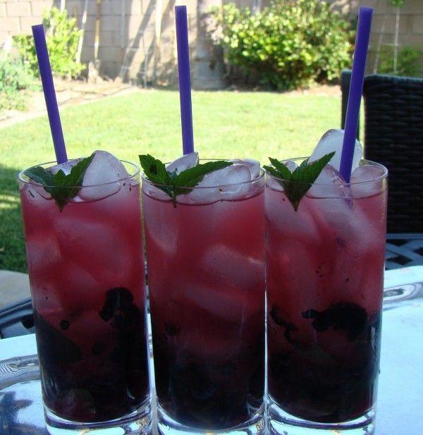 Blueberry Lavender Mojitios