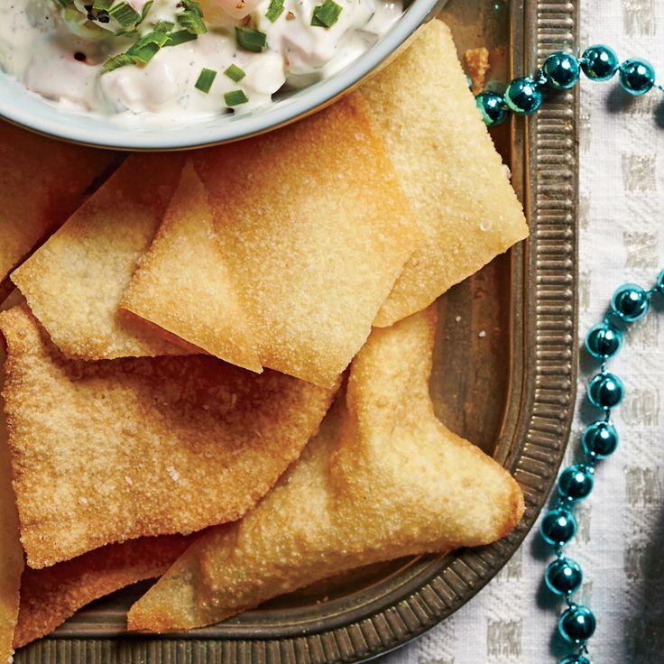 Crispy Wonton Chips | MyRecipes