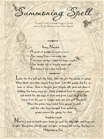 Best 25 summoning spells ideas on pinterest magick spells papercraft showcase your spellspotions books page 7 fandeluxe Document